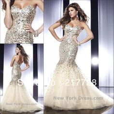 Free Shipping Sweetheart Tulle Sequins Decorated Mermaid Prom Dresses 2013 Evening Dresses With Crystals MD198
