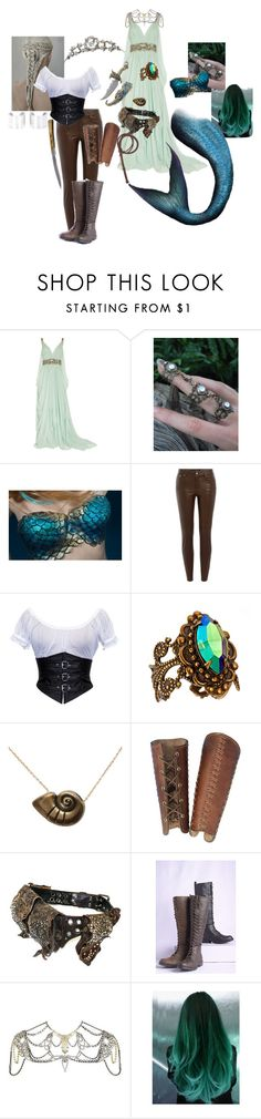 """Zania // Mermaid // The Shannara Chronicles"" by summerblu on Polyvore featuring Marchesa, Wite, TIARA, Ralph Lauren Black Label, Sorrelli, Disney, KMRii, Akira, River Island and Maison Margiela"