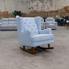 Clara Rocking Chair - Sky | Warehouse Furniture Clearance