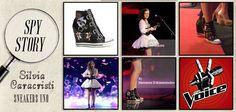 Le #vere #rockstar #indossano le #sneaker con #zeppa #Uno di #Ash! #Silvia #Caracristi ha #scelto la #versione #Black per la #puntata di #The Voice.