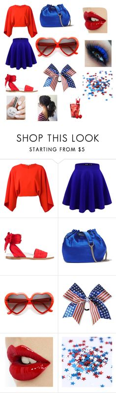 """Red, White and Bbq"" by stargirl203 ❤ liked on Polyvore featuring STELLA McCARTNEY, Marques'Almeida and Diane Von Furstenberg"