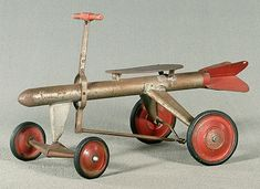 Super Rocket hand car, operate by pulling/pushing steering rod
