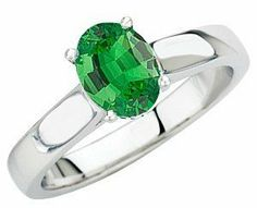 Wow Factor! Solitaire Large Oval Cut Genuine Tsavorite Garnet GEM Grade in Heavy Gold Ring AfricaGems. $2146.00
