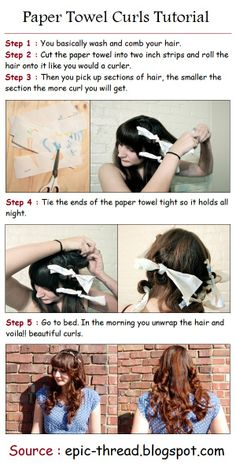 Paper Towel Curls Tutorial. I will have to try it!
