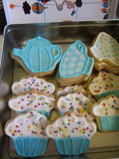 Cookies in blue
