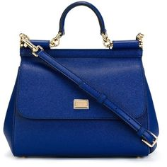 Dolce & Gabbana medium 'Sicily' tote (19.842.045 IDR) ❤ liked on Polyvore featuring bags, handbags, tote bags, blue, tote handbags, blue purse, blue tote, tote purse and leather tote handbags