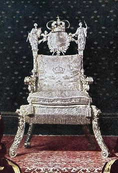 The silver throne of Queen Christina I Wasa of Sweden / Stockholm, mid 17th…