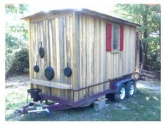 Newly Built Rustic Tiny Cabin on Wheels