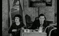 Buster Keaton and Bartine Burkett in The High Sign, 1921