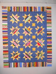 String Pieced Star Quilt Pattern | We can't get enough of this fun star quilt tutorial!