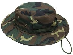 Jemis Men's Boonie Hat Bucket Hat (Brown camo) #armybuckethat #hat #buckethat