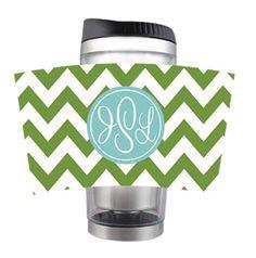 Monogrammed Stainless Steel Coffee Mug