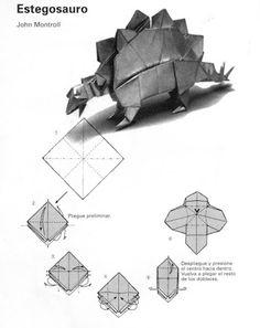 Origami And Kirigami, Origami Folding, Oragami, Paper Folding, Origami Paper, Dinosaur Origami, Origami Diagrams, Diy And Crafts, Paper Crafts