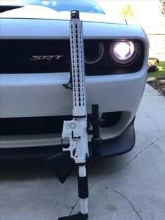 Who doesn't need a matching AR15 for their car? Rifle built by @riflesupply . #hotrodsandguns #hotrod #hotrods #riflesupply #ar15 #ar15build #guns #shotgun #freedom #merica #streetrod #streetrods #c10 #leadsled #leadsleds #patina #classiccar #vintagecar #musclecar #muslecars #prostreet #protouring #trifive