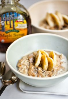 Maple-Spice Ginger Cookie Breakfast Risotto. Whaaaat? Yum.