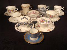 Vintage Mixed LOT #3 Teacups & Saucers 10 Sets TEACUP England Beautiful 20 Piece | eBay