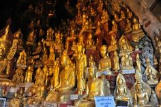 Pindaya cave, Myanmar, the Buddhist pilgrimage site containing more than images of Buddha Inle See, Myanmar Travel, Pilgrimage, Trekking, Trip Planning, Buddha Statues, Caves, Cement, Teak