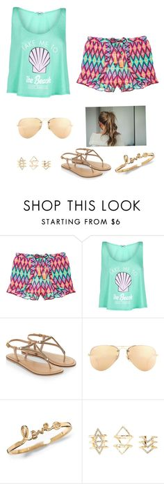 """""""I really want to be at the beach"""" by ellalovescorgis ❤ liked on Polyvore featuring мода, Victoria's Secret, Wildfox, Accessorize, Ray-Ban, Charlotte Russe, women's clothing, women, female и woman"""