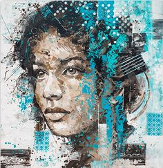 Colorful Large Scale Portraits By Peter Terrin http://designwrld.com/colorful-portraits-peter-terrin/