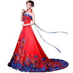 YoYo Elegant Embroidered Phoenix Tube Top Wedding Trailing Gown (L) YoYo,http://www.amazon.com/dp/B00ES8HHXI/ref=cm_sw_r_pi_dp_-VqGsb0DD7N8G82M