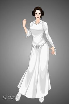 Princess Leia Organa by locktobre ~ Cartoon and Comic Dress Up Male Mermaid, Avatar Maker, Dark Disney, Doll Divine, Gothic Halloween, Popular Dresses, Princess Leia, White Outfits, Magical Girl