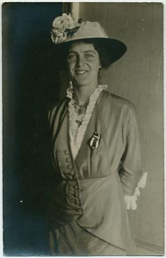 British suffragist and labor activist Cicely Corbett-Fisher (1885-1959) in 1913; from the NYPL Digital Collections.
