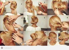 medium hair updos step by step - Szukaj w Google