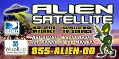 Alien Satellite billboard