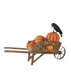 Harvest Wheelbarrow with Pumpkins