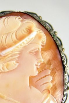 Silver Gilt Cameo Brooch by worn2perfection on Etsy, $195.00