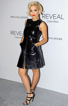 Rita Ora wears Calvin Klein Collection dress // Calvin Klein celebrates the launch of Reveal Calvin Klein #NYFW