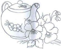 Cafetera y flores