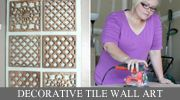 Beautiful decorative tile wall art; The House of Smiths DIY Tutorials