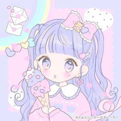 Cute Anime Wallpaper, Wallpaper Iphone Cute, Cute Cartoon Wallpapers, Animes Wallpapers, Anime Girl Drawings, Kawaii Drawings, Cute Drawings, Kawaii Chibi, Kawaii Art