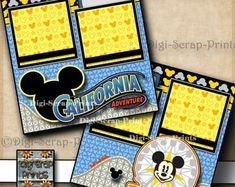 My First Disney Trip 2 Premade Scrapbook Pages EZ Layout   Etsy Scrapbooking Layouts, Scrapbook Pages, Disneyland Sign, Space Mountain, Printed Pages, Disney Scrapbook, Disney Trips, Mini Albums, Craft Supplies