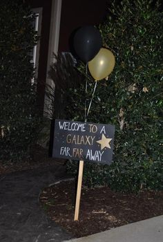 Star Wars Party Welcome Sign
