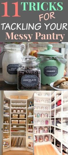 11 Ways in Organizing and pantry storage. Lets look at some tricks that will to organize your pantry. You get some great ideas and knowledge in how to get started.