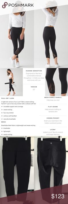 💪🏼 NWT Lululemon Essential Rhythm Crop 💪🏼 NWT Lululemon Essential Rhythm Crop. Size 4. Style: LW6HG4S/BLK. No longer sold in stores or online! No trades, no PayPal, but I do 10% discounts on bundles of 3+ items! Feel free to ask questions 😊 lululemon athletica Pants