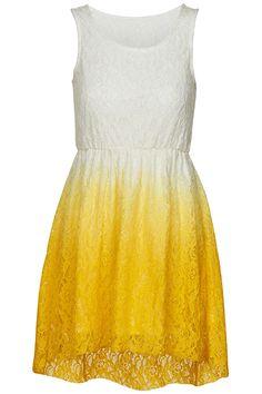 #ROMWE   Asymmetric Dual-tone Gradient Yellow Dress, The Latest Street Fashion