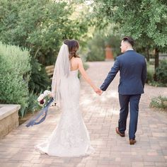 walking into their forever as husband & wife! Outdoor Ceremony, Husband Wife, Botanical Gardens, Reception, Walking, Weddings, Wedding Dresses, Unique, Beauty