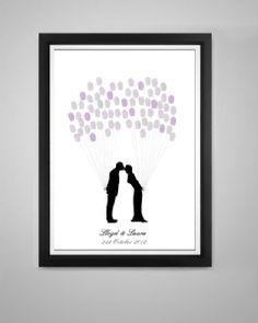 Kissing Couple Fingerprint Balloon Kit