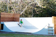 """The backyard skate ramp provides entertainment for the adults as well as the children. """"We love sitting on the..."""