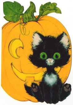 Vintage Halloween Card, I think we have one of these will have to look for it and add to the Halloween scrapbook