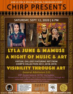CHIRP presents a virtual art and music event, The Center for the Arts Nevada City, Virtual Art