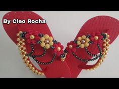 Youtube, Jewelry, Bling Flip Flops, Flip Flop Decorations, Flip Flop Craft, Decorated Flip Flops, Pearl Flower, Slippers, Jewlery