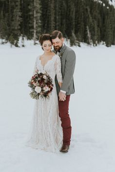 This dress is so pretty! I think it would work. Lake Louise Wedding Photographers