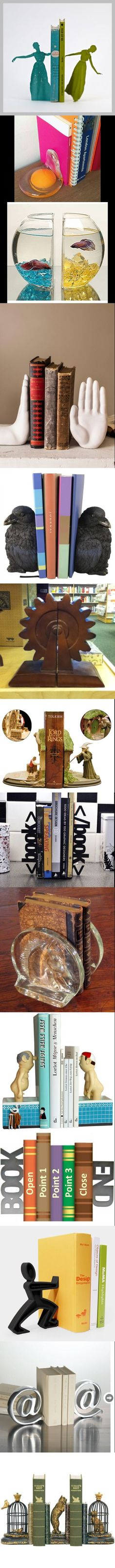 Sujeta libros   -   Bookend (more at:) http://pinterest.com/okknihovna/bookend-zarazky-na-knihy/
