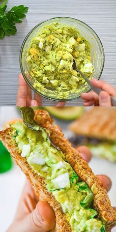 This Avocado Egg Salad is creamy, delicious, and easy to make. Youll love this healthy and flavorful egg salad for a meal or as a quick snack. Cooktoria for more deliciousness! Healthy Breakfast Recipes, Easy Healthy Recipes, Vegetarian Recipes, Cooking Recipes, Healthy Brunch, Avocado For Breakfast, Healthy Delicious Meals, Healthy Snacks Vegetarian, Quick And Easy Snacks