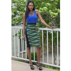 Eniola Midi African Print Pencil Skirt ~African fashion, Ankara, kitenge, African women dresses, African prints, Braids, Nigerian wedding, Ghanaian fashion, African wedding ~DKK