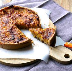 Tarte d'automne : butternut/poireaux/speck/parmesan